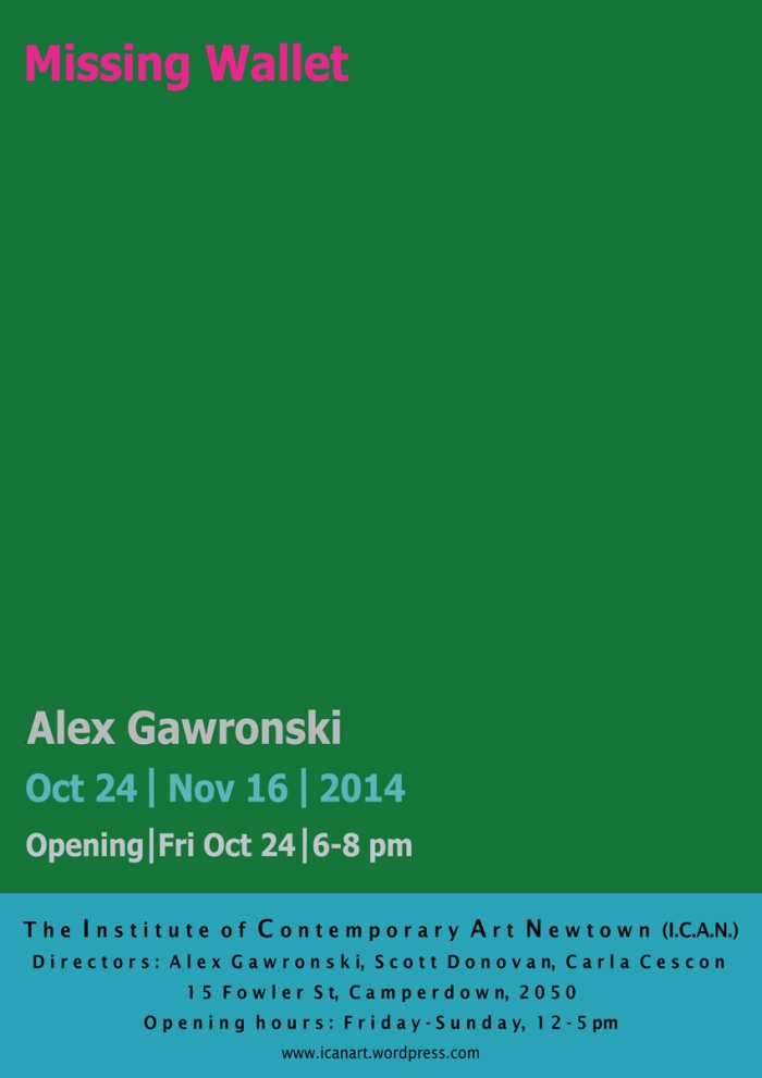 Alex Gawronski ICAN evite 2014