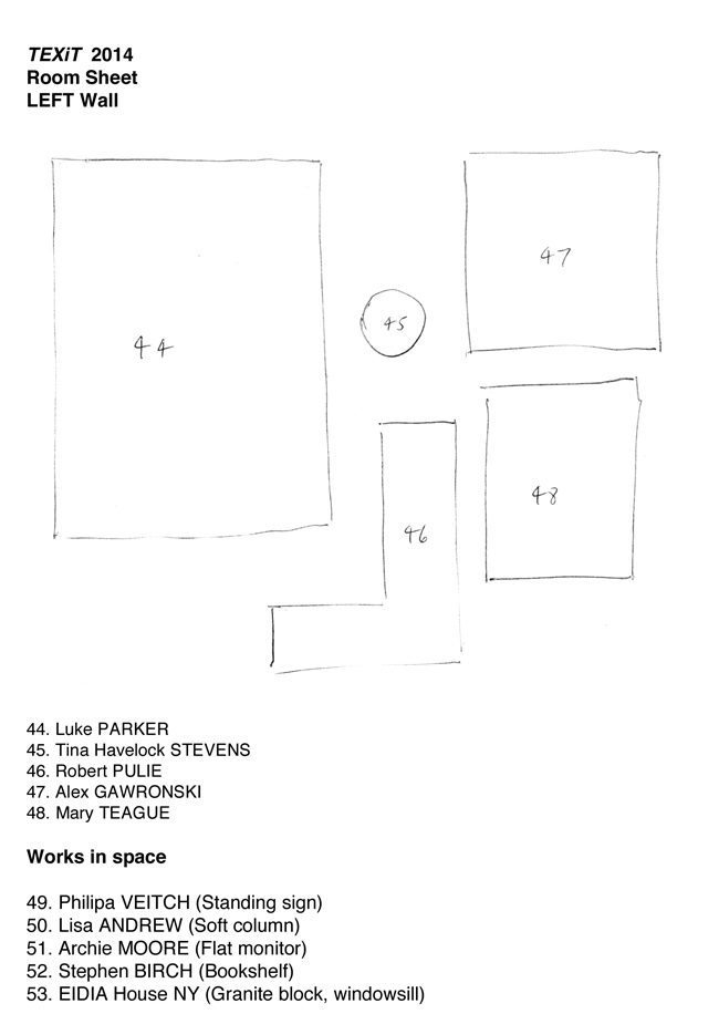 TEXiT Roomsheet 3